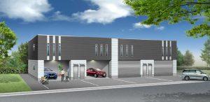 ガレージハウス4戸・パース01